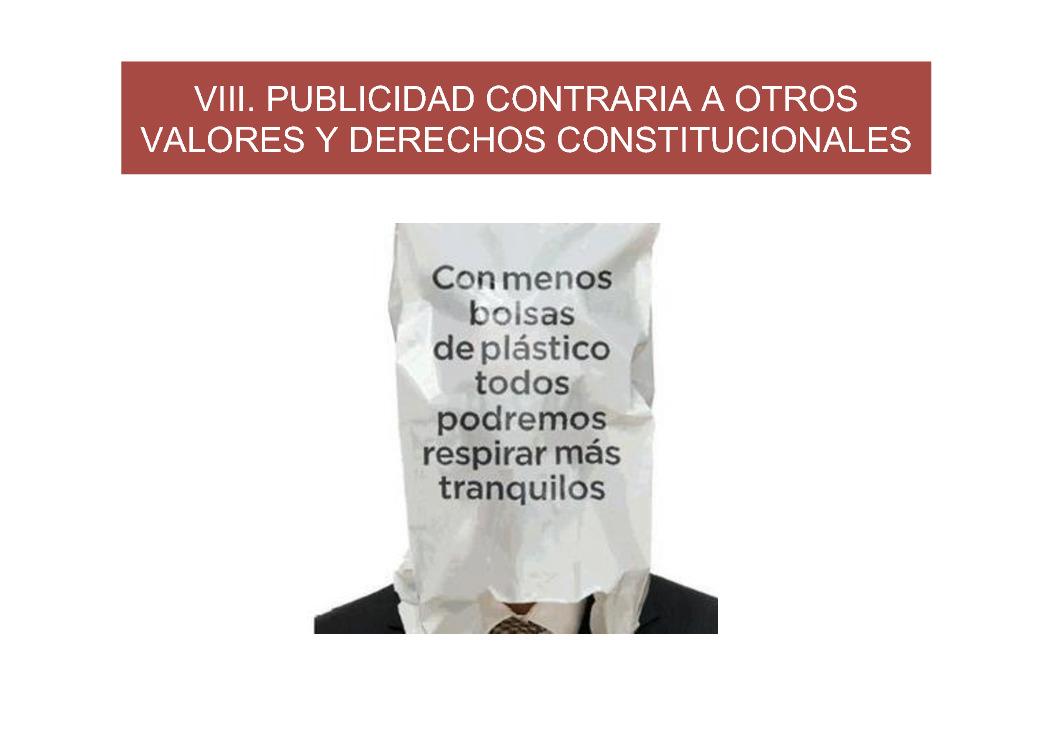 A publicidade contraria aos valores e dereitos constitucionais